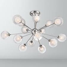 Possini Vanity Lighting Possini Euro Design Glass Sphere 15 Light Ceiling Light X9159