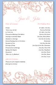 Elegant Wedding Program One Page Wedding Program Template Finding Wedding Ideas