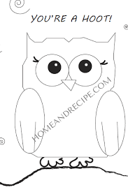 female owl coloring page