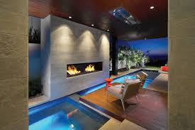 modern fireplace pool contemporary beach house in dana point
