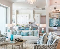 aqua living room living room beach style with floral arrangements