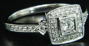 vintage square engagement rings awful of vintage square ring