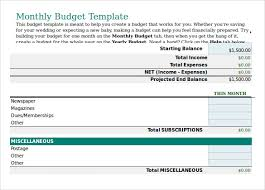 sample budget plan 7 examples format