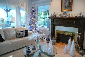 Blue White And Silver Christmas Tree - holiday decor fabulous blue and silver christmas decorations for