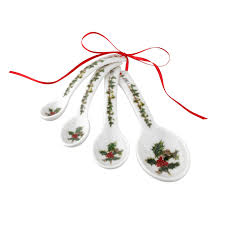portmeirion the holly and the ivy measuring spoons set of 4