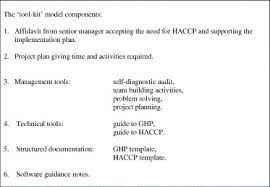 reducing the burden of haccp on smes sciencedirect
