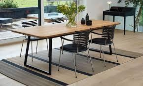 cuisine en naturelle table rectangulaire en bois massif cuisine naturelle destiné à