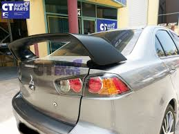 mitsubishi evo spoiler evo x style abs rear trunk wing spoiler for 07 17 mitsubishi lancer