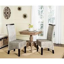 Safavieh Rural Woven Dining Ilya Antique Grey Wicker Dining Chairs - Woven dining room chairs