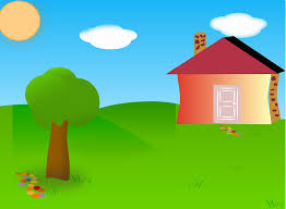 backyard with house moved clip art at clker com vector clip art