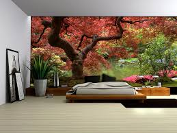 red tree wallpaper murals by homewallmurals co uk
