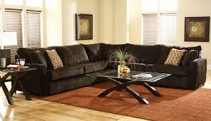 Brown Themed Living Room by Living Room Decor With Dark Brown Sectional Interior Design