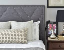 Nailhead Upholstered Headboard Upholstered Headboard King Queen Full Twin Size West Elm Pictures