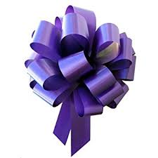 pull bows large purple ribbon pull bows 9 wide set of 6