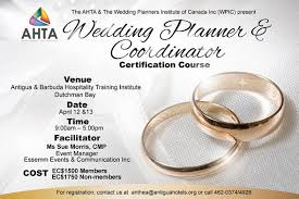 wedding planner association antigua news wedding planner course