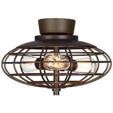industrial ceiling fan light kit oil rubbed bronze industrial cage 3 40 watt ceiling fan light kit