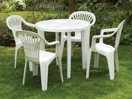 White Resin Patio Table White Plastic Outdoor Table And Chairs Style White Plastic Patio
