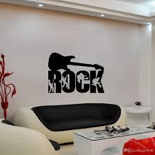 pvc rock music art mural decoration wallpaper removable guitar pvc rock music art mural decoration wallpaper removable guitar pattern wall sticker for bedroom and study decoration wholesale tree decals for walls cheap