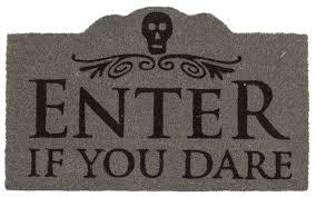 entryways sweet home enter if you dare non slip coir doormat