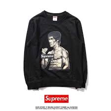 buy cheap supreme bruce lee thin black hoodie online at wholesale