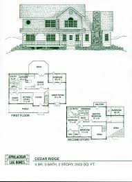 Floor Plans For 2 Story Homes by 2 Story Log Home Floor Plans Design Sweeden