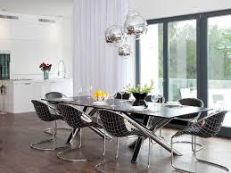 Moderndiningroomlightinground  Beautiful Modern Dining Room - Modern dining room