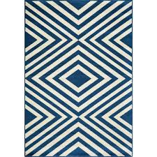 5 X 7 Indoor Outdoor Rug by Border Blue 5 X 7 Outdoor Rugs Rugs The Home Depot