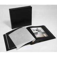 black leather photo album personalised leather wedding albums in black ivory white uk