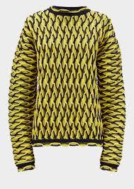 versace bi color argyle knit sweater for us store
