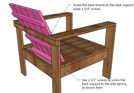 Build Wood Outdoor Furniture by Ana White Simple Outdoor Lounge Chair Diy Projects