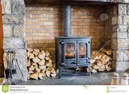 wood burning stove stock image image of fuel firewood 57138947