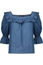 swiss dot blouse henson ruffled swiss dot cotton blouse zoe sale up to