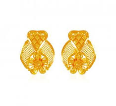 gold earrings tops 22k gold gold earrings 22k gold tops in range us 330 to 430