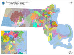 Lowell Massachusetts Map by Current Districts