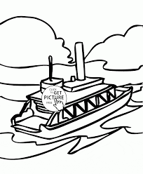 nice small ship coloring page for kids transportation coloring