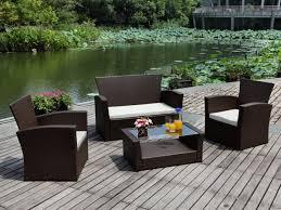 canape jardin resine salon jardin arequipa canapé 2 fauteuils table basse choco