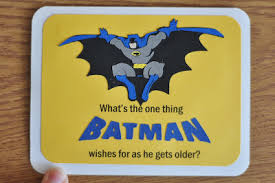 pippity pop batman birthday card