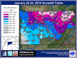 Zip Code Map Nashville by January 22 23 2016 Snowstorm
