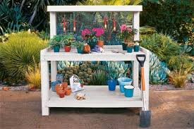 Outdoor Potters Bench 16 Potting Bench Plans To Make Gardening Work Easy The Self