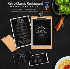 business menu template free restaurant menu template word