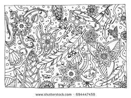 color coloring kids adults mandala stock vector 697437292