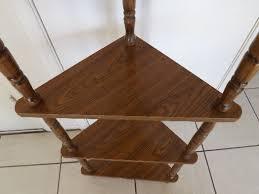 Wood Corner Shelf Design by Wooden Corner Floor Shelf Popular Shelf 2017