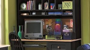 Corner Computer Armoire Black Desk With Storage Furniture Enchanting Corner Computer