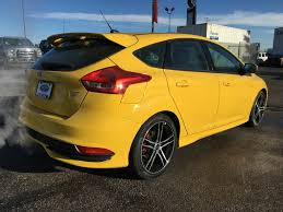 ford focus st yellow 2017 ford focus st 4 door car in calgary ab 17fo0791