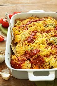 thanksgiving lasagna recipe spaghetti squash lasagna minimalist baker recipes