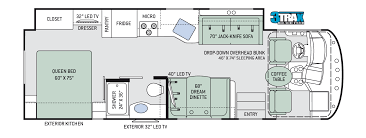 3 floor plans a c e class a motorhomes floor plans thor motor coach