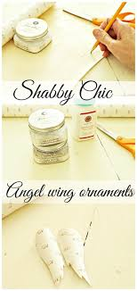 shabby chic wing ornament with german glass glitter debbiedoos