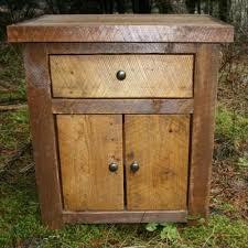 hand made rustic reclaimed nightstand by echo peak design