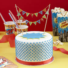 amazon ginger ray pop art superhero party happy birthday cake