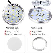 counter kitchen cabinet lights led cabinet lighting kit moobibear 2w 600lm dimmable counter light fixtures in 5000k daylight white puck lights wave